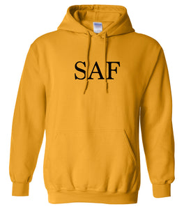 yellow saf mens pullover hoodie