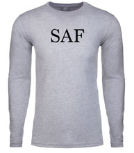 Load image into Gallery viewer, grey saf mens long sleeve shirt