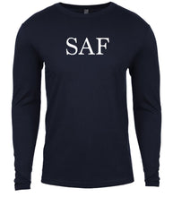 Load image into Gallery viewer, navy saf mens long sleeve shirt