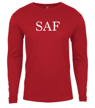 Load image into Gallery viewer, red saf mens long sleeve shirt