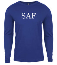 Load image into Gallery viewer, blue saf mens long sleeve shirt