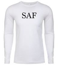 Load image into Gallery viewer, white saf mens long sleeve shirt