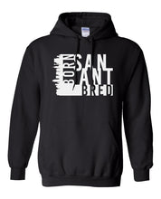 Load image into Gallery viewer, black San Antonio born and bred hoodie