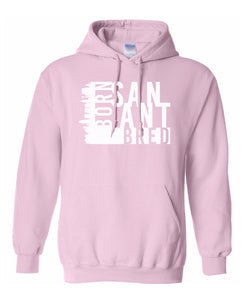 pink San Antonio born and bred hoodie