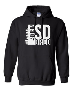 black San Diego born and bred hoodie