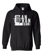 Load image into Gallery viewer, black San Fransisco Born and bred hoodie