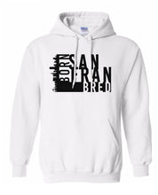 Load image into Gallery viewer, white San Fransisco Born and bred hoodie