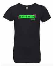 Load image into Gallery viewer, florescent green sarcastic neon streetwear t shirt for girls