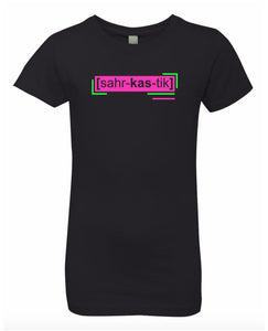 florescent pink sarcastic neon streetwear t shirt for girls