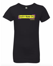 Load image into Gallery viewer, florescent yellow sarcastic neon streetwear t shirt for girls