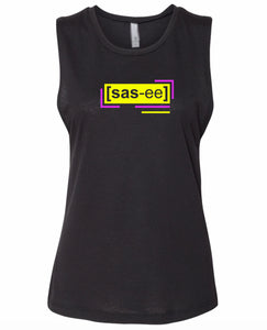 florescent yellow sassy neon streetwear tank top for women