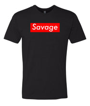 Load image into Gallery viewer, black savage crewneck t shirt