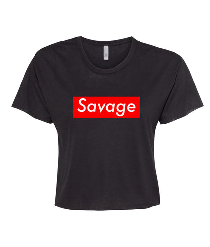 black savage crop top t shirt