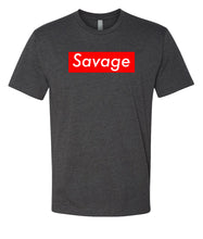 Load image into Gallery viewer, charcoal savage crewneck t shirt