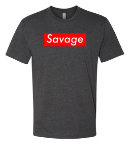 charcoal savage crewneck t shirt