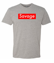 Load image into Gallery viewer, heather grey savage crewneck t shirt