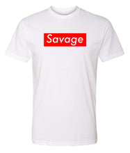 Load image into Gallery viewer, white savage crewneck t shirt