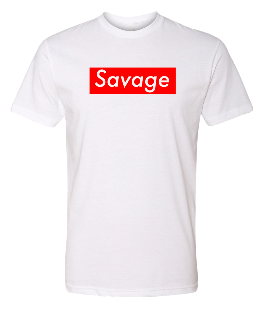 white savage crewneck t shirt