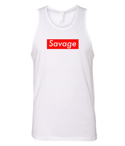 white savage tank top