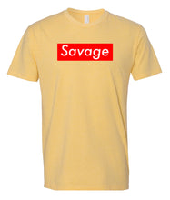 Load image into Gallery viewer, yellow savage crewneck t shirt
