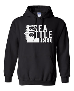 black Seattle born and bred hoodie