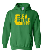 Load image into Gallery viewer, green Seattle born and bred hoodie