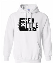 Load image into Gallery viewer, white Seattle born and bred hoodie