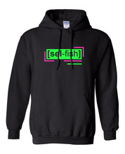 Load image into Gallery viewer, florescent green selfish neon streetwear hoodie