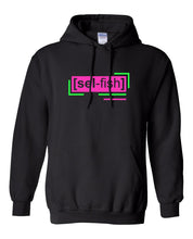 Load image into Gallery viewer, florescent pink selfish neon streetwear hoodie