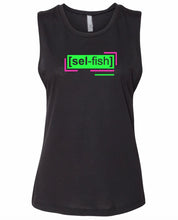 Load image into Gallery viewer, florescent green selfish neon streetwear tank top for women