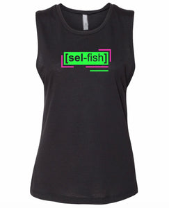 florescent green selfish neon streetwear tank top for women