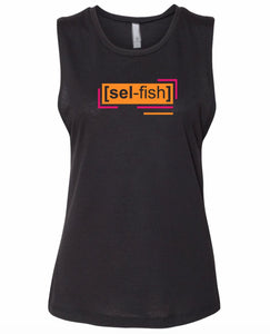 florescent orange selfish neon streetwear tank top for women