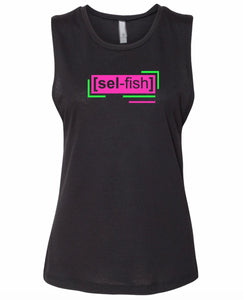 florescent pink selfish neon streetwear tank top for women
