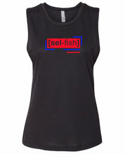 Load image into Gallery viewer, florescent red selfish neon streetwear tank top for women
