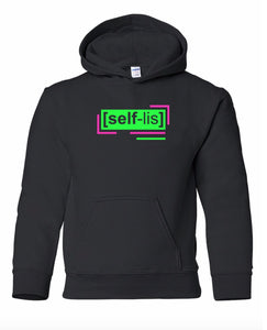 florescent green selfless youth kids neon streetwear hooded sweatshirt