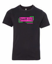 Load image into Gallery viewer, florescent pink selfless neon streetwear t shirt for kids