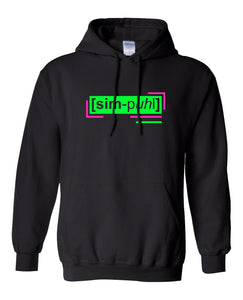 florescent green simple neon streetwear hoodie