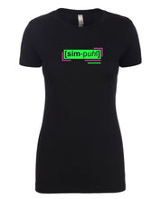 Load image into Gallery viewer, florescent green simple neon streetwear t shirt for women