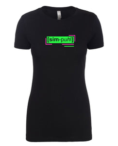 florescent green simple neon streetwear t shirt for women