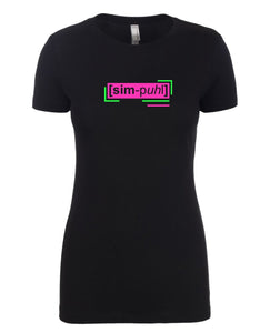 florescent pink simple neon streetwear t shirt for women