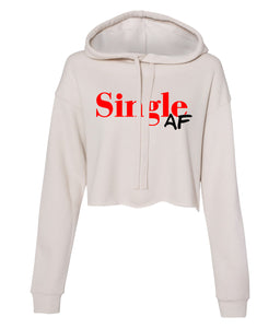 dust single AF cropped hoodie