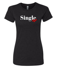 Load image into Gallery viewer, black single AF crewneck women's tee