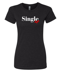 black single AF crewneck women's tee