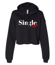 Load image into Gallery viewer, black single AF cropped hoodie