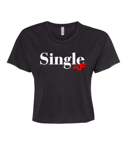 black single AF crop top tee