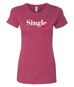 cardinal single AF crewneck women's tee