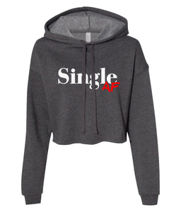 charcoal single AF cropped hoodie