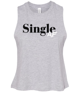 grey single AF women's cropped tank top