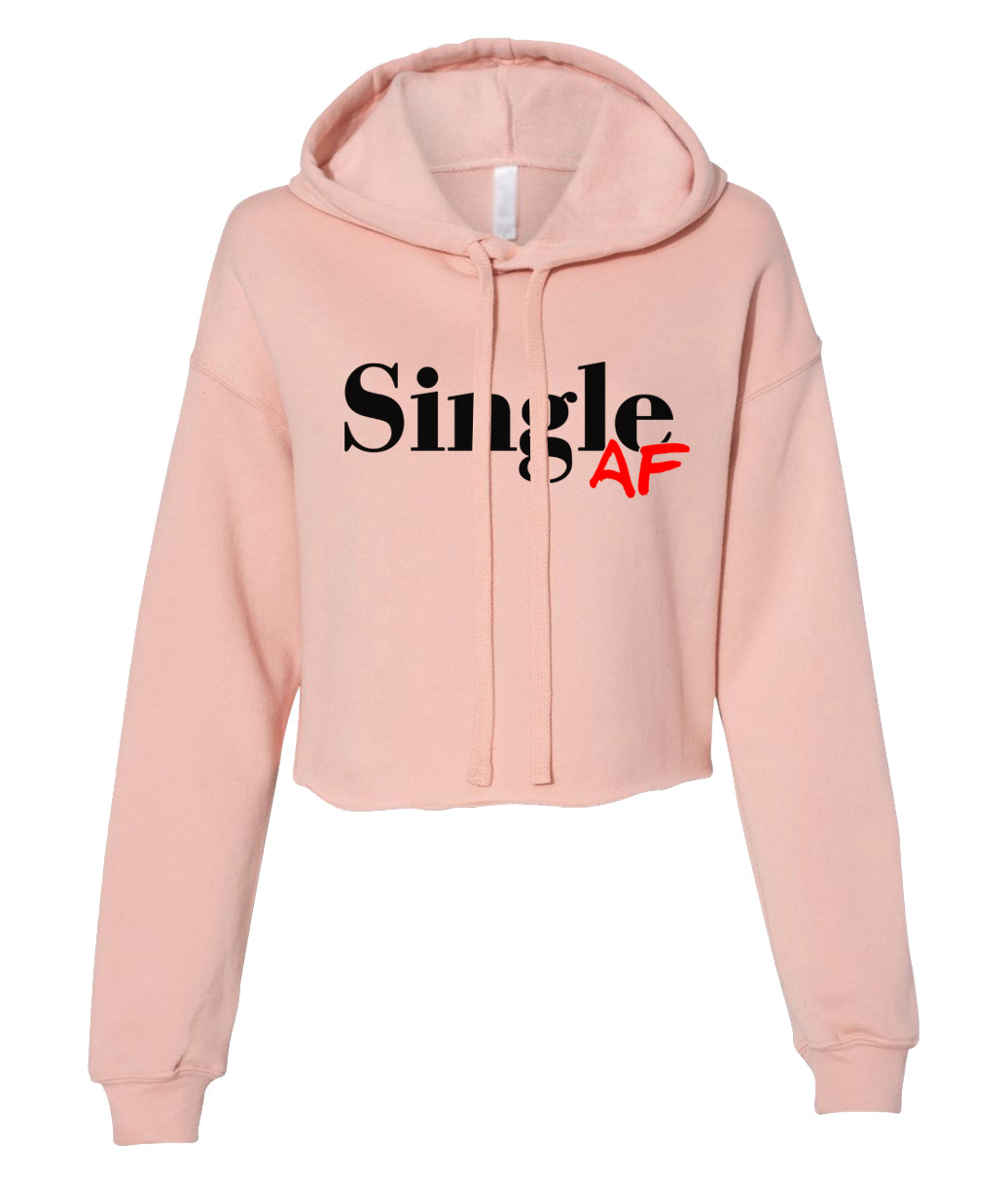 peach single AF cropped hoodie