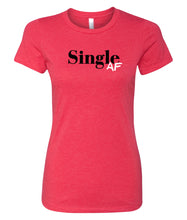 Load image into Gallery viewer, red single AF crewneck women's tee